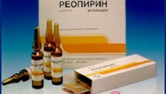 Реопирин-виды