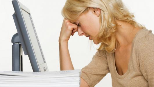 Стресс от большого количества работы