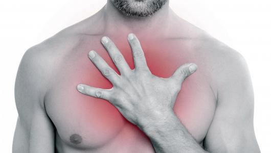 Жгет в груди